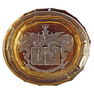 Marriage seal of count Bobrinskii and princess Gorchakova 1