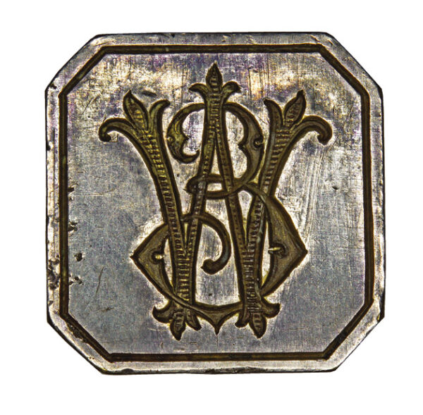 Seal with monogram WE 1